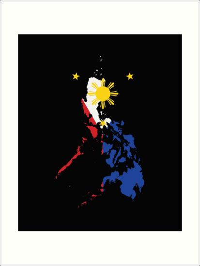 37607bca7b5ad Filipino Map Philippines Flag
