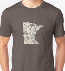 Minnesota Vintage Picture Map T-Shirt