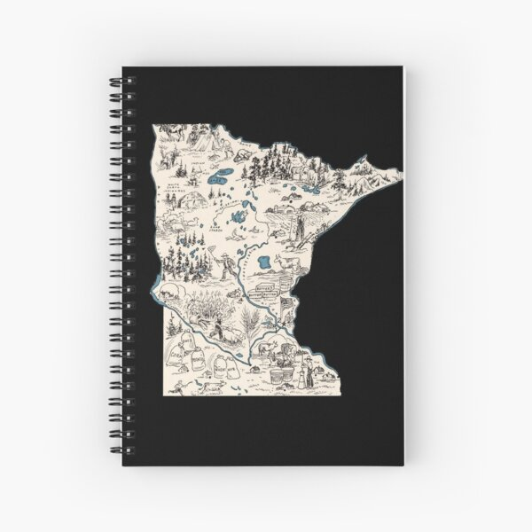 Minnesota Vintage Picture Map Spiral Notebook