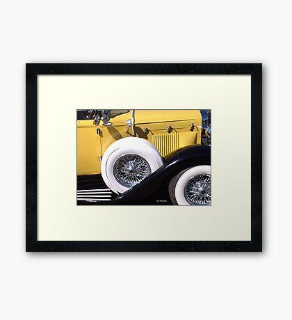 Yellow Roadster Framed Print