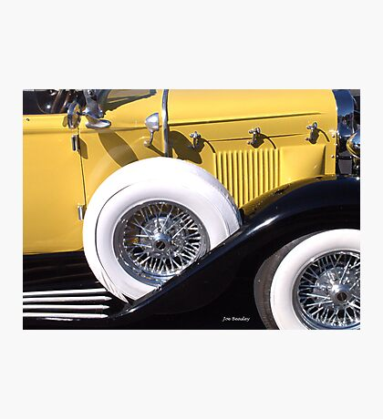 Yellow Roadster Photographic Print