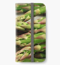 A close up image of fresh asparagus iPhone Wallet/Case/Skin