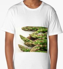 A close up image of fresh asparagus Long T-Shirt