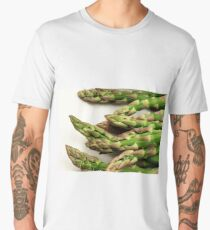 A close up image of fresh asparagus Men's Premium T-Shirt