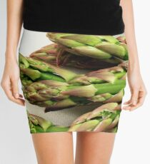 A close up image of fresh asparagus Mini Skirt