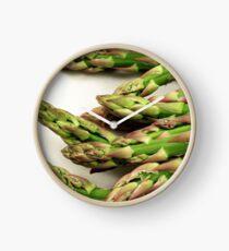 A close up image of fresh asparagus Clock