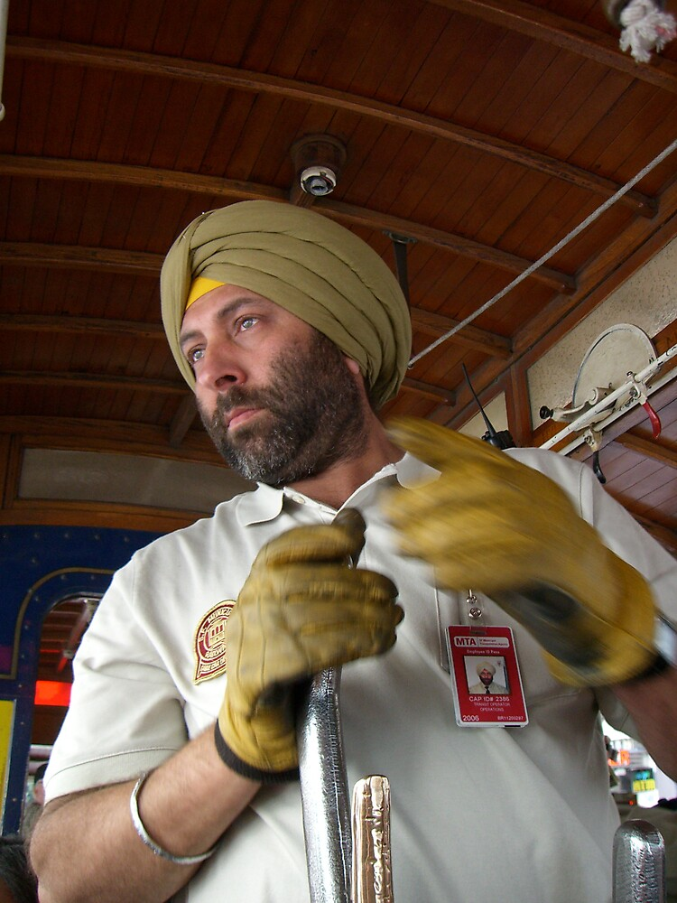Cable Car Driver by Paul Franson