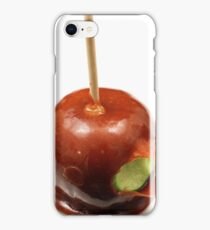 A close up image of a fresh caramel apple iPhone Case/Skin