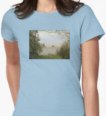 The Church Hill View of the Clevedon Pier Womens Fitted T-Shirt