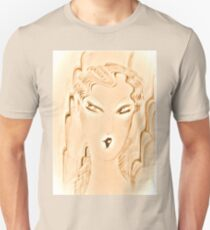 pink pearl,art deco flapper dolly ,Jackie Smith , House of Harlequin Unisex T-Shirt