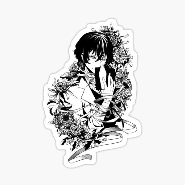 Dazai (B&W) Sticker