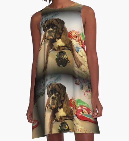 Ist das ein anderes Weihnachtsgeschenk für mich? - Boxer-Hunde-Reihe A-Linien Kleid
