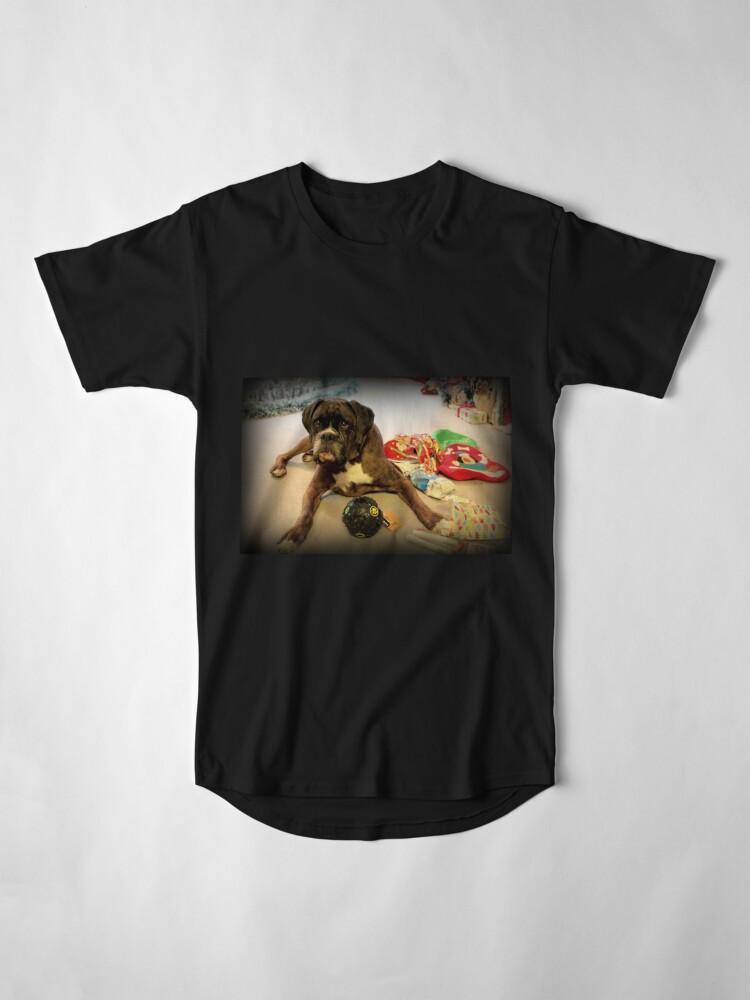Alternative Ansicht von Ist das ein anderes Weihnachtsgeschenk für mich? - Boxer-Hunde-Reihe Longshirt