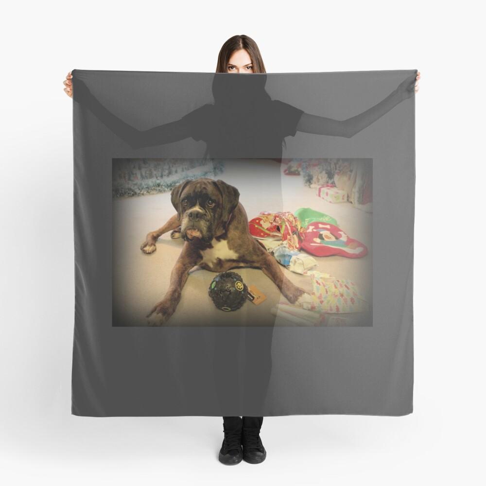 Ist das ein anderes Weihnachtsgeschenk für mich? - Boxer-Hunde-Reihe Tuch