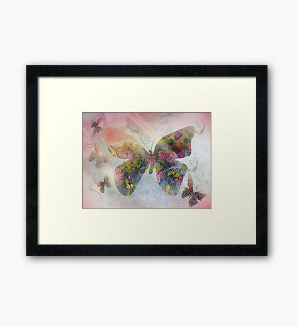 Floral Butterflies Framed Print