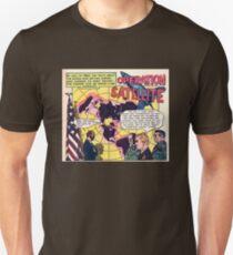 Flat Earth Comics - OPERATION SATELLITE Unisex T-Shirt