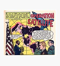 Flat Earth Comics - OPERATION SATELLITE Photographic Print