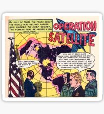 Flat Earth Comics - OPERATION SATELLITE Sticker