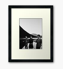 Collage Bande à part (Band of Outsiders) - Jean-Luc Godard Framed Print