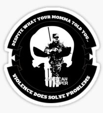 AMERICAN SNIPER CRAFT C.R.A.F.T. VIOLENCE SOLVE PROBLEMS Sticker