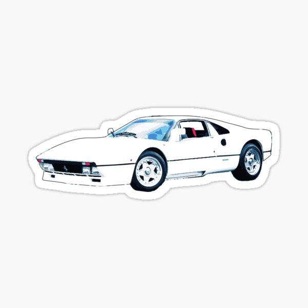 white ferrari Sticker