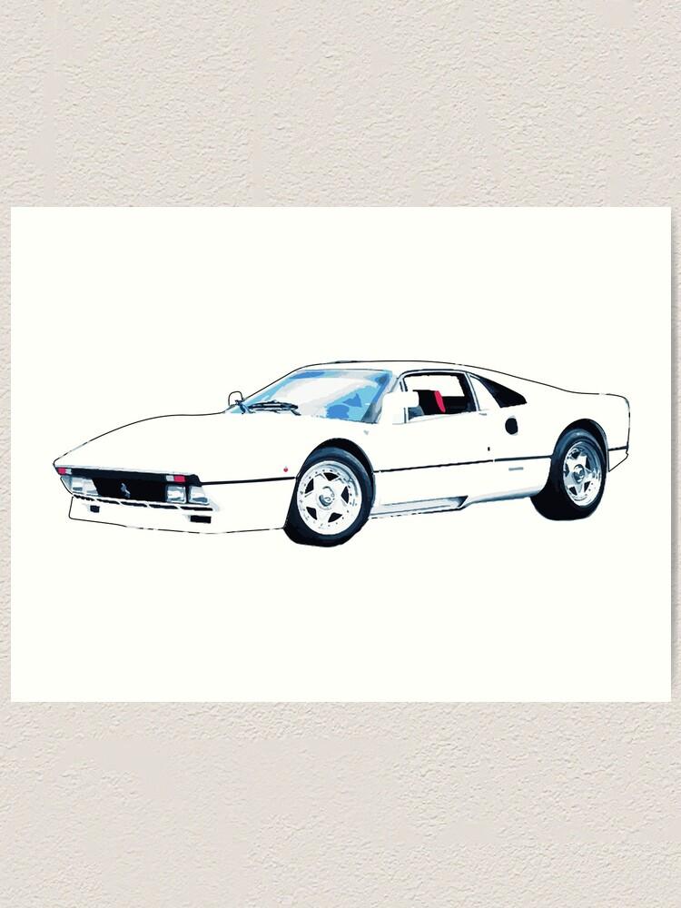 Weißer Ferrari Kunstdruck Von Nataliejski Redbubble