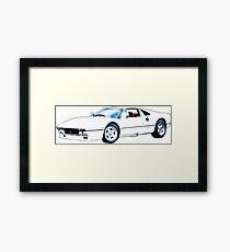 white ferrari Framed Print