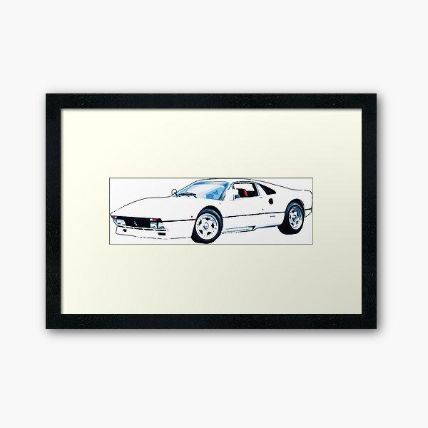 white ferrari Framed Art Print