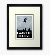 """""""I Want To Believe"""" Police Public Call Box version.  Framed Print"""