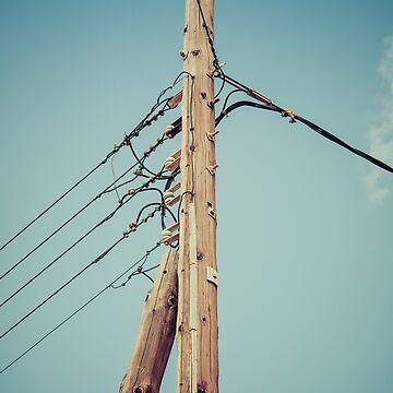 Vintage telephone pole by Siemek