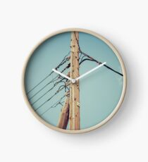 Vintage telephone pole Clock