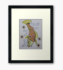 Koi (colored pencil drawing) Framed Print