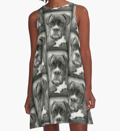 Ist das für mich? .... Boxer Dogs Series A-Linien Kleid