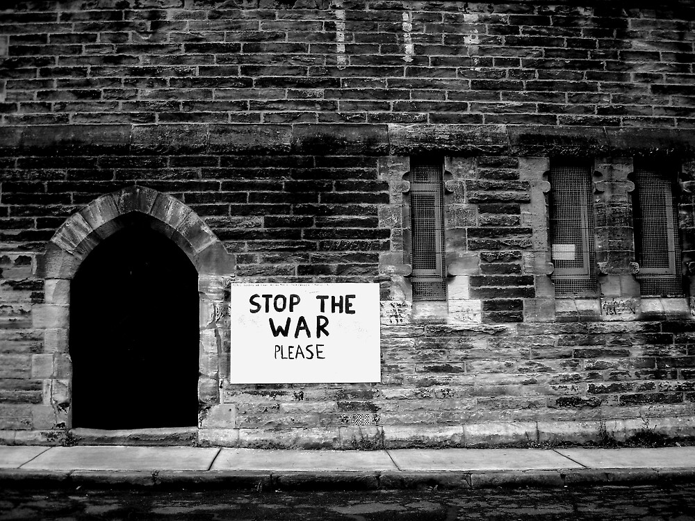 stop the war please by SherryAnn
