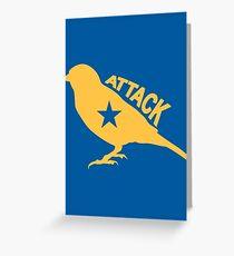 Attack Bird Greeting Card