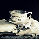 Tea,  Magnolia And Book by Evita