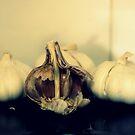 Garlics On The Bench by Evita