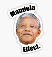 Mandela effect Sticker