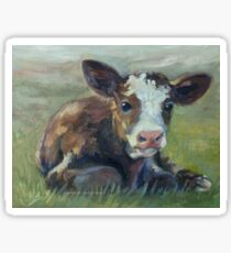 Cute Country Calf Sticker