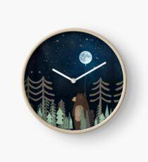 the moon balloon Clock