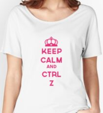 KEEP CALM AND CTRL Z Women's Relaxed Fit T-Shirt