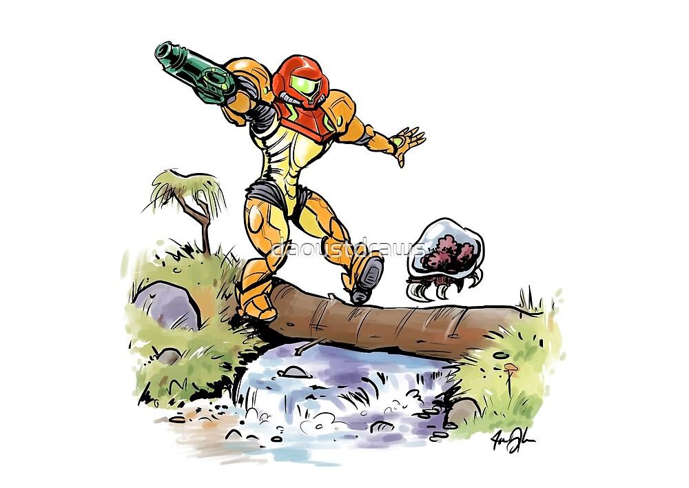 Samus und Metroid von daoustdraws