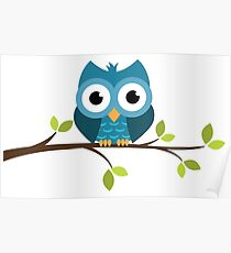 The Cute Owl Poster