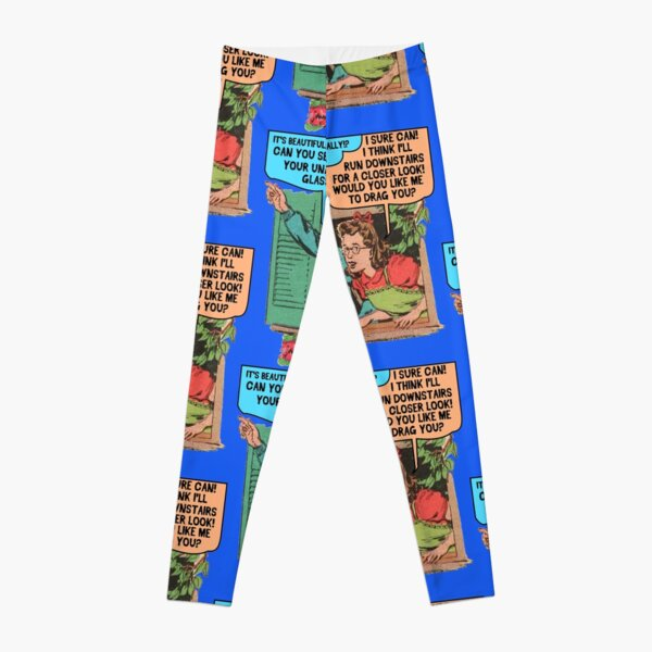 Funny Drawing of Horrible Kids Being Catty Leggings