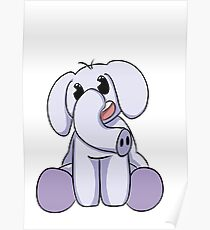 The Cute Elephant Poster