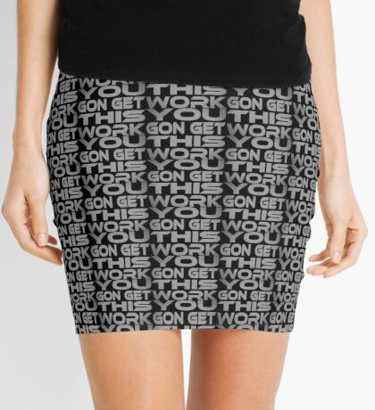 You Gon Get This Work Mini Skirt