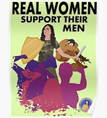 Real Women Fight Back: Military Poster