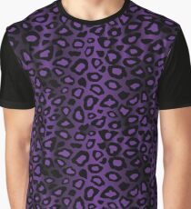 Purple Leopard Animal Pattern Graphic T-Shirt
