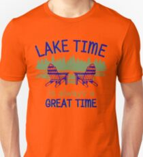 Lake Time Great Time Boating Fishing Camping Outdoors Unisex T-Shirt