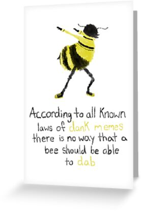 Bee movie dab greeting cards by cantabscond redbubble bee movie dab by cantabscond m4hsunfo